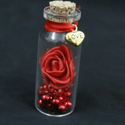 گیفت (هدیه) عروسی بطری آویز قلب 10 عددی