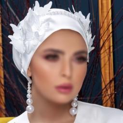کلاه حجاب عروس 7505 (توربان)