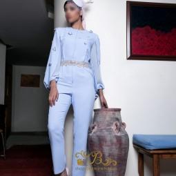 لباس مجلسی زنانه کرپ و حریر 3013