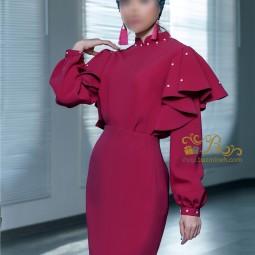 لباس مجلسی زنانه کرپ 3001