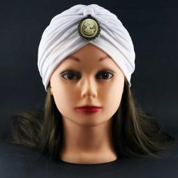 کلاه حجاب سفید با سنگ (توربان)