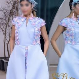 لباس مجلسی زنانه ساتن 3015