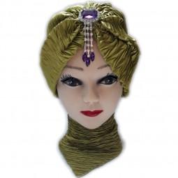 کلاه حجاب ساتن کش آویزدار 1027 (توربان)